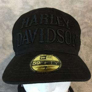 NWT Black on Black Harley Hat